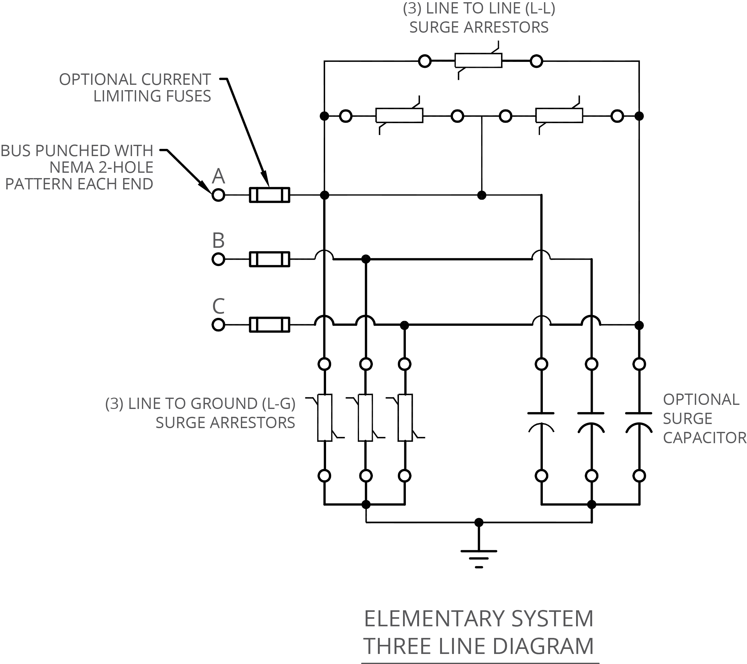 NEPSI - Medium Voltage - Transient Voltage Surge Suppression (MV-TVSS) | Tvss Wiring Diagram |  | NEPSI